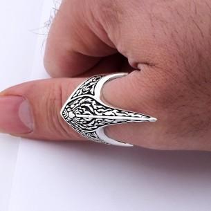925 Ayar Gümüş Erkek Zihgir Okçu Yüzüğü