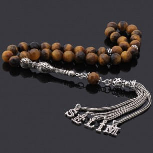 Onyx Stone Silver Prayer Beads