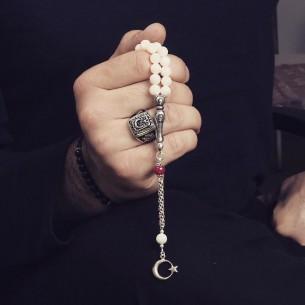 Ay Yildiz Gümüş Yüzük ve Tesbih Kombin