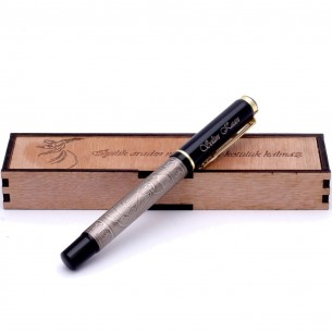 Mevlana İsimli Roller Kalem ve Ahsap Hediye Kutu