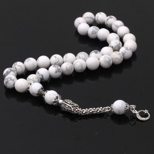 Moon Star Silver Tassel Prayer Beads