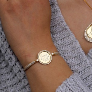 Initials Personalized Silver Bracelet