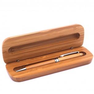 Atatürk Imzali İsim Yazılı Bambu Kalem Set