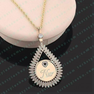 925 Sterling SilverPersonalized Tulip Necklace