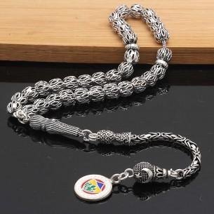 GS Oxidized Silver Prayer Beads