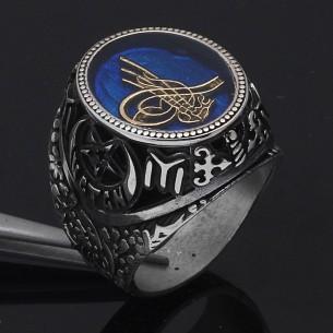 925 Sterling Silver Onyx Ottoman Men's Ring