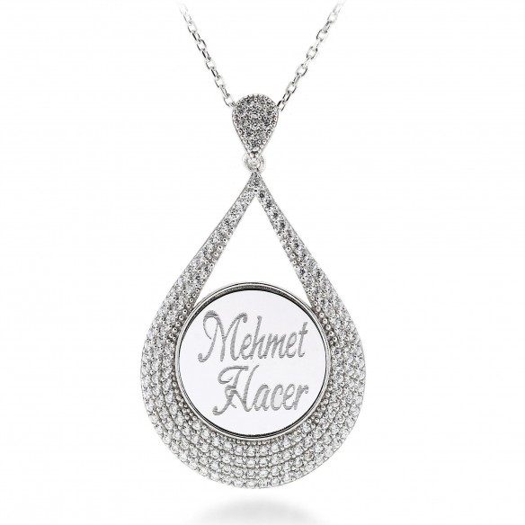 Drop Name Necklace in 925 Sterling Silver