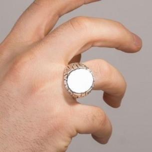 Onyx Stone Men Ring in Sterling Silver