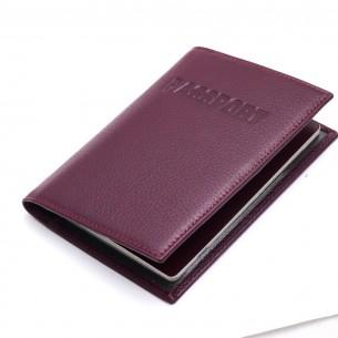 Kişiye Özel Mor Renkli Gerçek Deri Pasaportluk