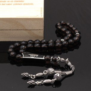 Smoky Quartz Silver Prayer Beads
