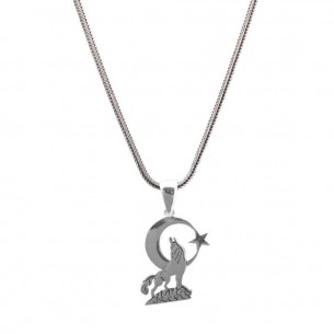 Wolf Necklace in 925 Sterling Silver