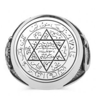 925 Ayar Gümüş Mührü Süleyman Yüzük