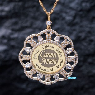 Lale Motifli isimli Annelere Ozel Gümüş Kolye