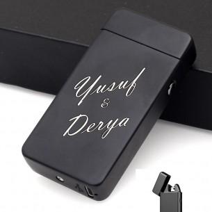 Isimli Elektrikli Led Cakmak USB Sarjli Ve Hediye Kutusu