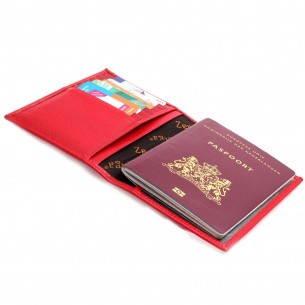 Kişiye Özel Kırmızı Renkli Gerçek Deri Pasaportluk